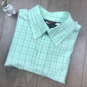 TOMMY HILFIGER Mint Green Button Down Dress Shirt